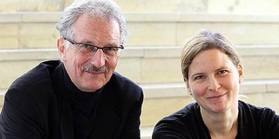 Petra Straeten (Oboe) und Udo Witt (Orgel) geben gemeinsam ein Konzert im St. Kamillus Kolumbarium in Mönchengladbach. Foto: Alois Müller - Abdruck honorarfrei
